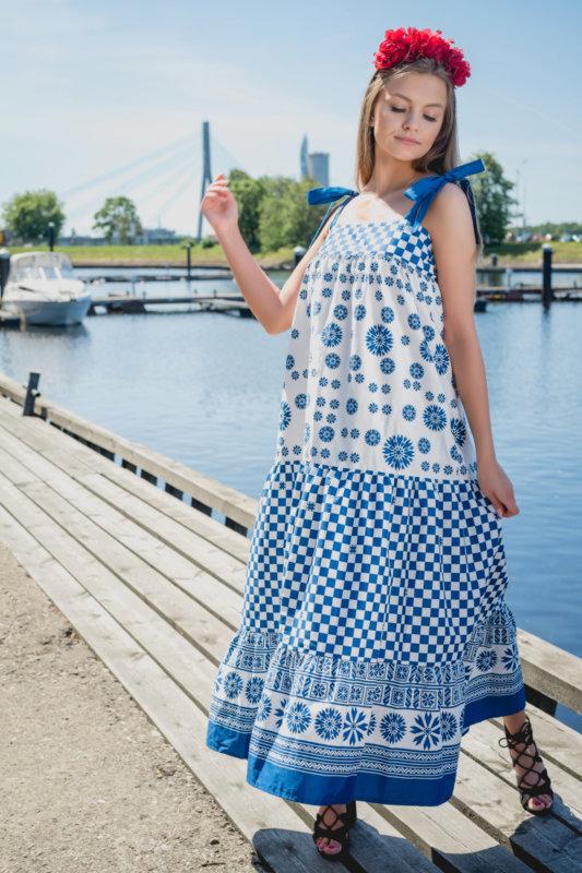 Long Summer Frill dress