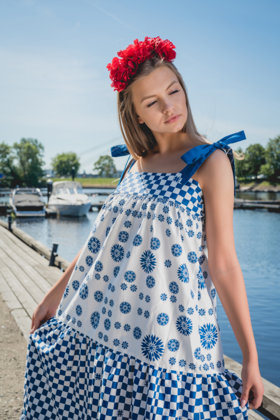 Long Summer Frill dress